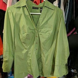 Green button up shirt
